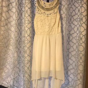 pearled white dress